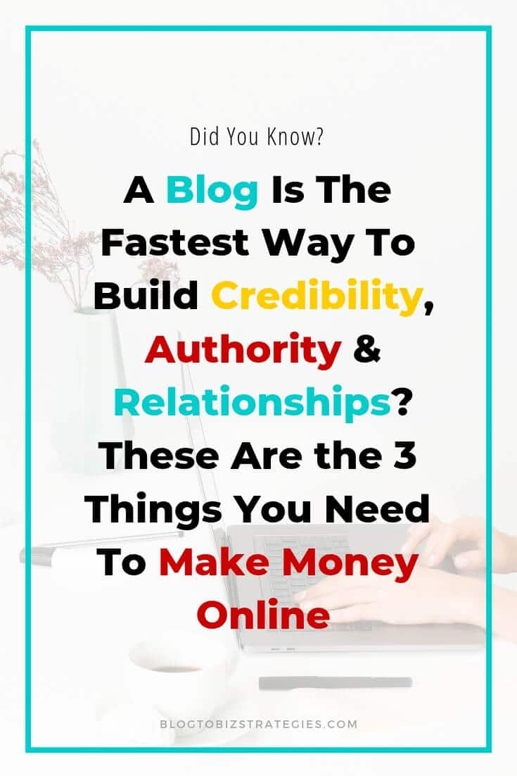 Blog to Biz Strategies | A Blog Is The Best Way To Build Credibility, Authority And Relationships
