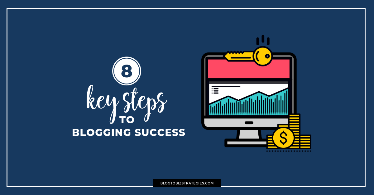 Blog to Biz Strategies | Make Money Blogging: The 8 Key Steps (Featured)