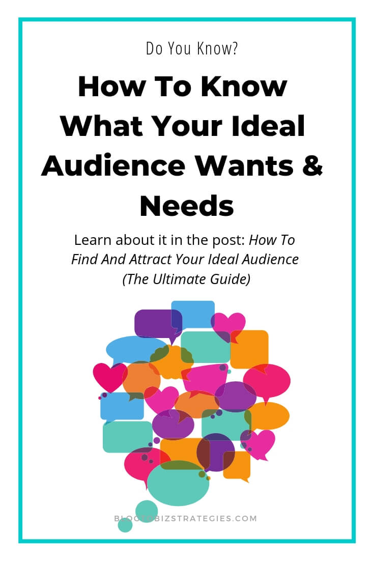 Blog to Biz Strategies | How To Know What Your Ideal Audience Wants & Needs