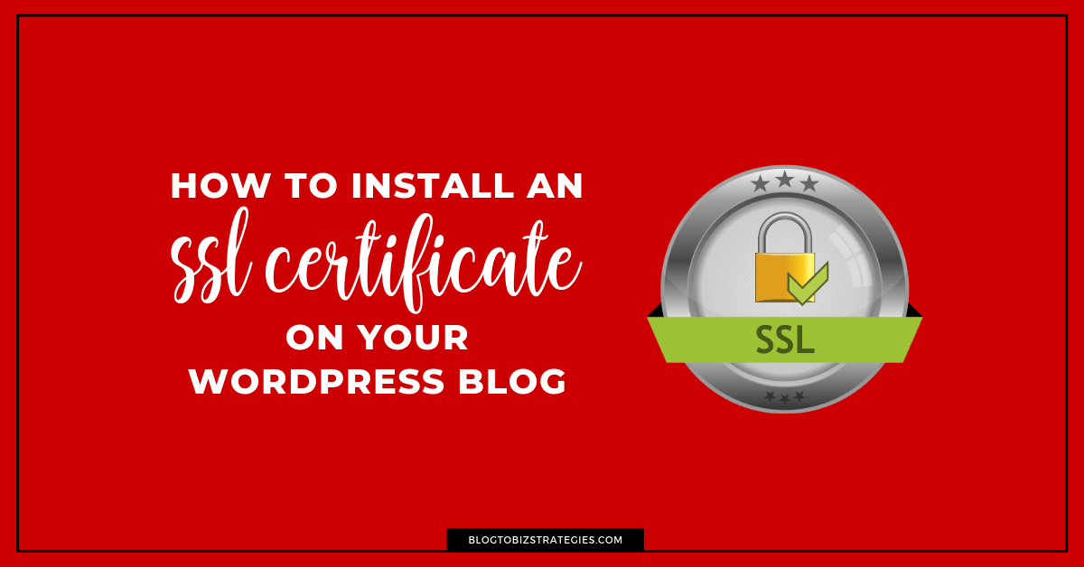 Blog to Biz Strategies | How To Install An SSL Certificate On WordPress