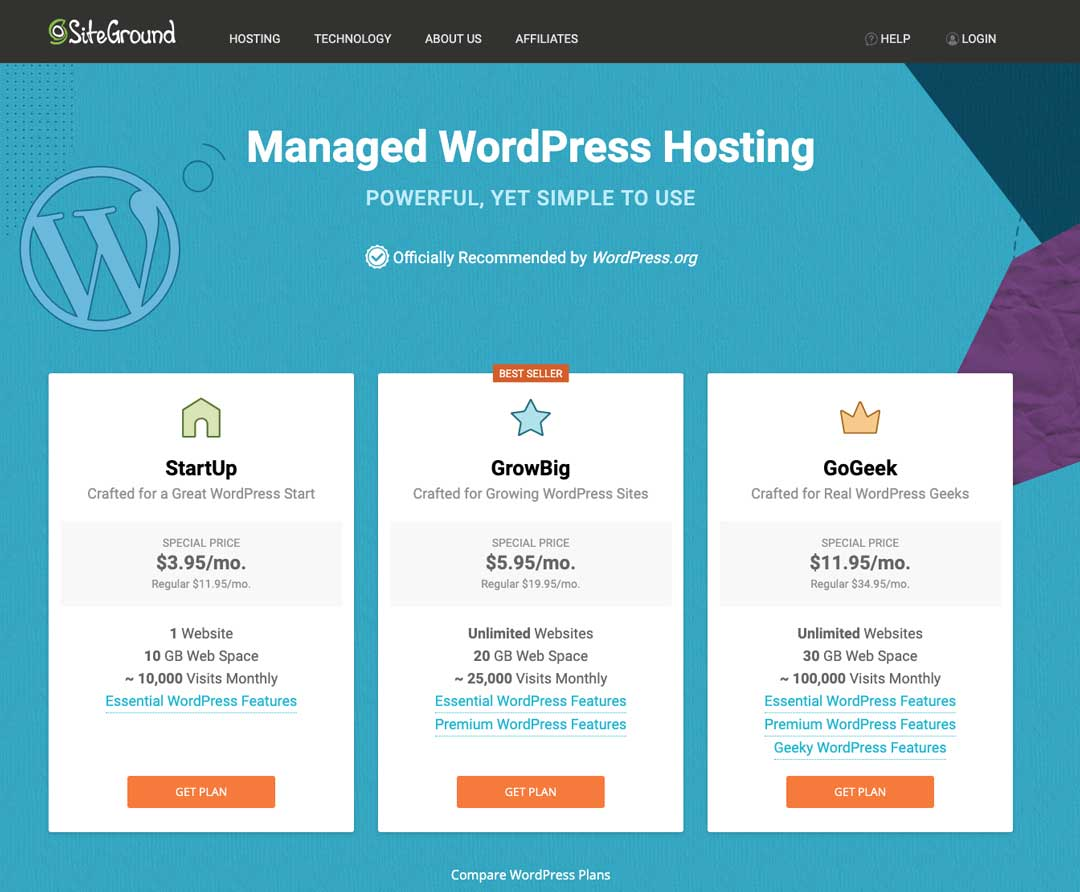 Blog To Biz Strategies | SiteGround Hosting Packages