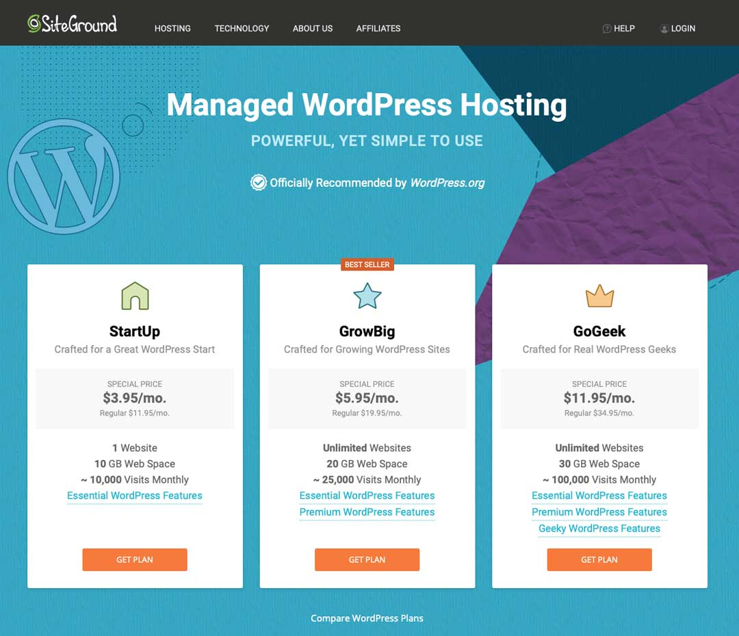Blog to Biz Strategies | SiteGround WP Hosting Plans