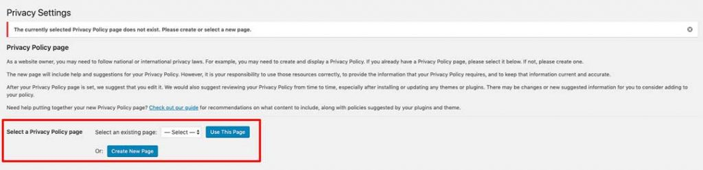 Blog to Biz Strategies | Configure WordPress Settings - Privacy Policy Step 1
