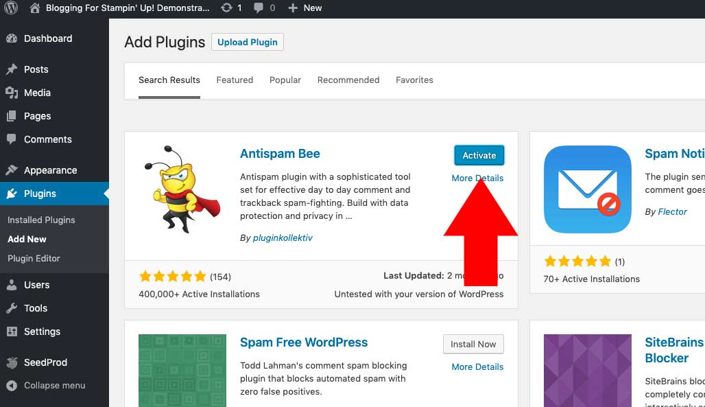 Blog to Biz Strategies | How To Install WordPress Plugins 5